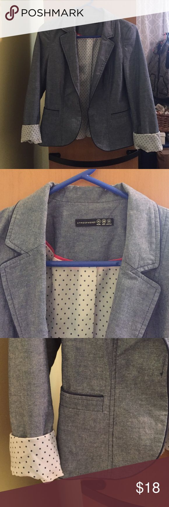 Chambray blazer Chambray blazer from Primark in London. Excellent condition! UK size 10, fits a small Primark Jackets & Coats Blazers