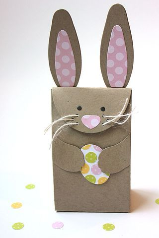 131 best paques images on pinterest bricolage carrot and photo of a cute bunny box its so perfect for delivering jelly beans or a small easter gift inside negle Choice Image
