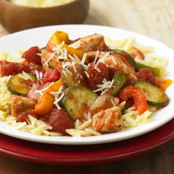 Pollo con Zucchini a la Italiana preparado en la Sartén - Receta – ListoYServidoRápido