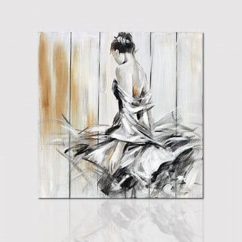 Hx-Art Frameless Picture Frame Canvas Dancing Girl Dances-A Decorative Paintings