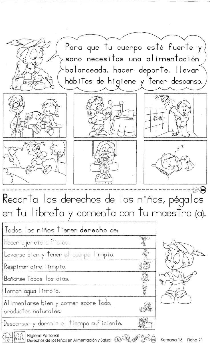 Higiene personal Derechos de los niños en alimentación y salud