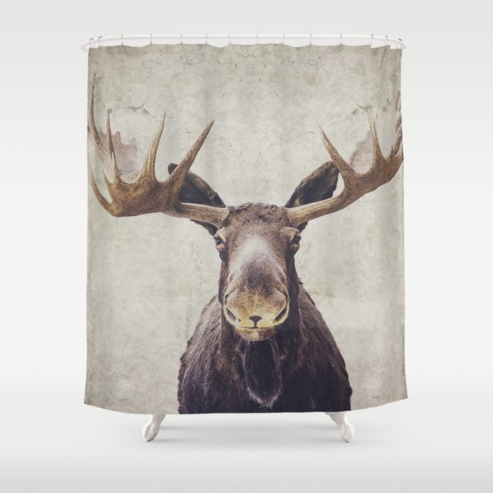 Buy Moose Shower Curtain By Retrolovephotography Worldwide