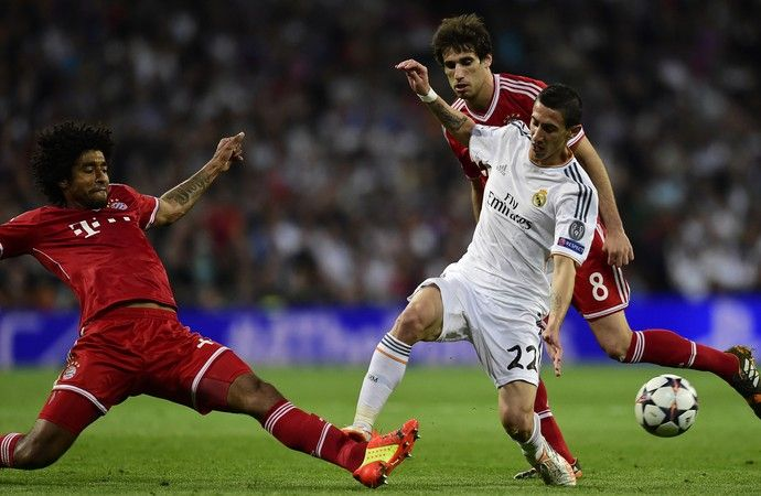 Dante e Di Maria, Real Madrid x Bayern de Munique (Foto: AFP)