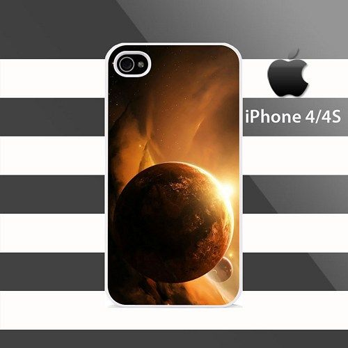 Planet Space iPhone 4 4s Rubber Case Cover