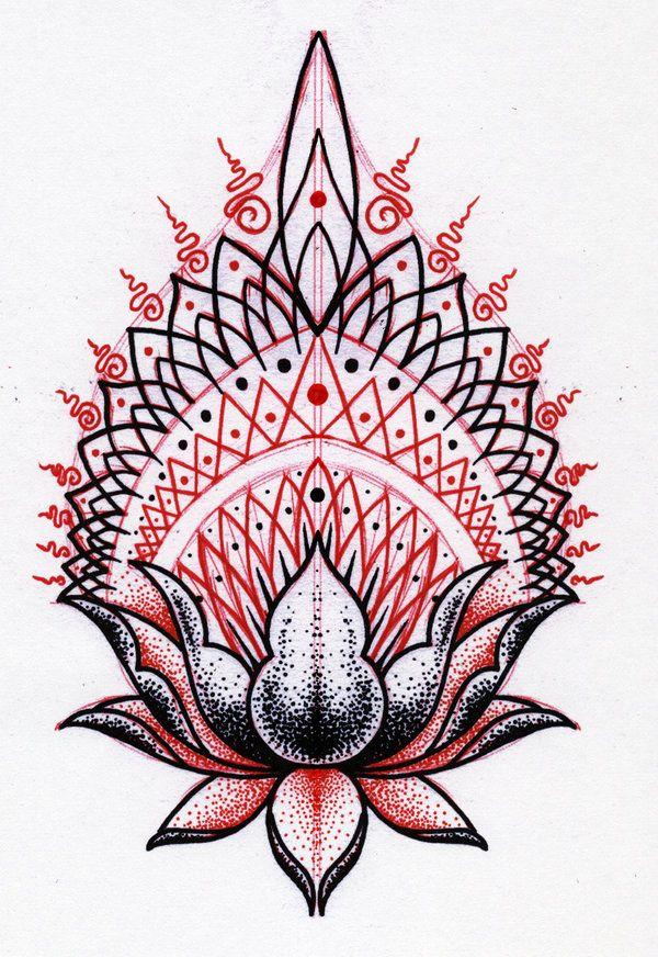 Lotus Pattern Tattoo Design