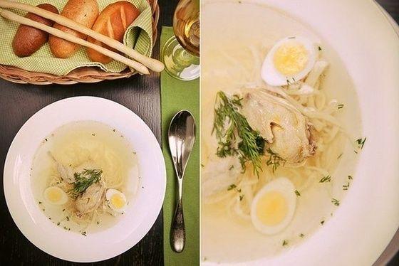Куриный суп с лапшой без муки
