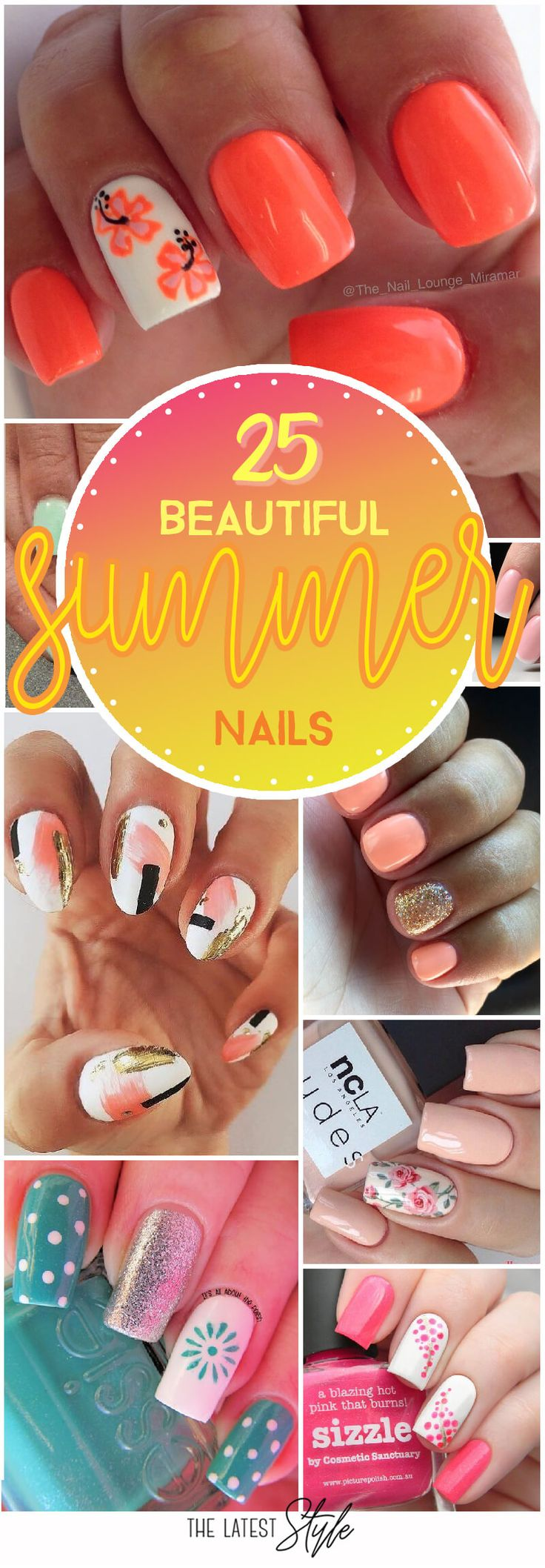 25 Beautiful Summer Nail Inspirations