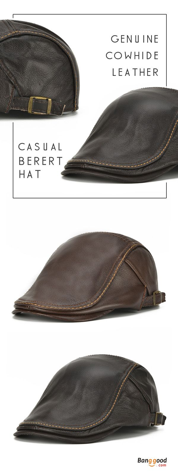 US$36.66+Free shipping. Beret Hat, Forward Caps, Genuine Cowhide Leather, Solid, Casual, Warm. Color: Coffee, Brown. Shop now~