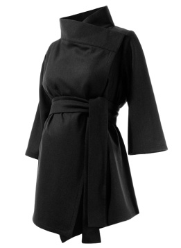 """Really like this Belted Wrap Jacket for its shape and adaptability to """"growth"""" =)"""