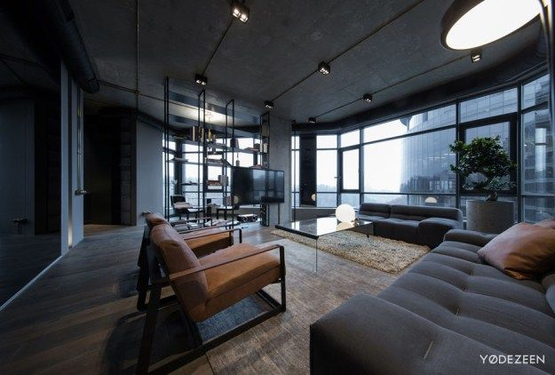 Open plan apartment in Kyiv by YoDezeen - MyHouseIdea