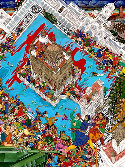 by the Singh twins. 'Nineteen Eighty Four – The Storming of the Golden Temple'.