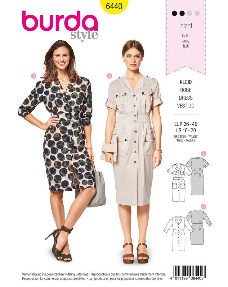 Sportive, Hemdblusenkleider sind Evergreens, die einfach Stil haben. Kleid A mit Safarie-Elementen. Kleid B, eher clean mit 3/4 Ärmeln, wird interessant durch Print.