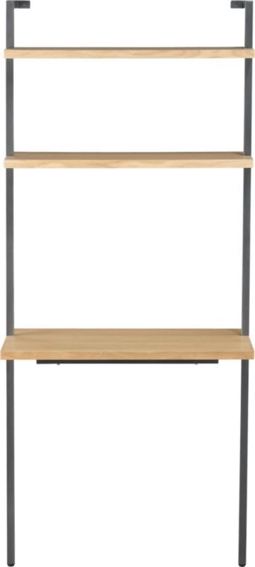 "helix white oak 70"" wall mounted desk in office furniture 