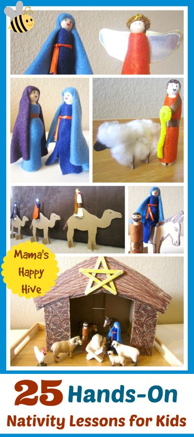 This is a beautiful compilation of 25 hands-on nativity lessons. Also, an easy and inexpensive craft tutorial.