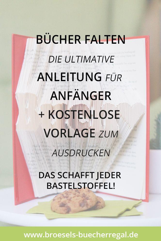 8a9a22e59b68 Einfach Bücher falten: DIY-Anleitung für Anfänger & Vorlage | Bücher ...