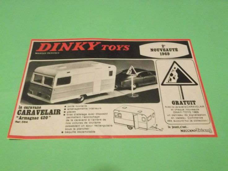 PUBLICITE - DINKY TOYS - CARAVANE CARAVELAIR ARMAGNAC MECCANO-TRIANG 1969 ( B8 ) | eBay