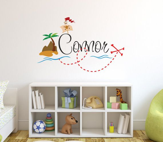 Hey, I found this really awesome Etsy listing at https://www.etsy.com/listing/238858893/personalized-pirate-name-wall-decal