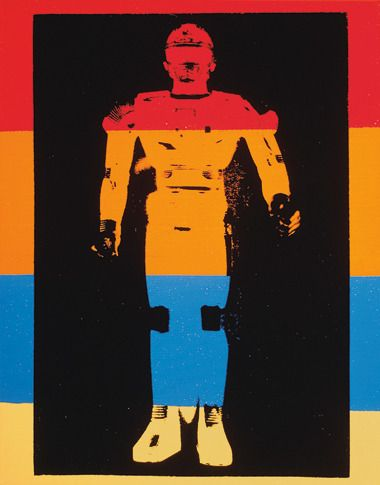 Andy Warhol Flash Sharivan Robot, 1983 Synthetic polymer paint and silkscreen ink on canvas 14 x 11 inches