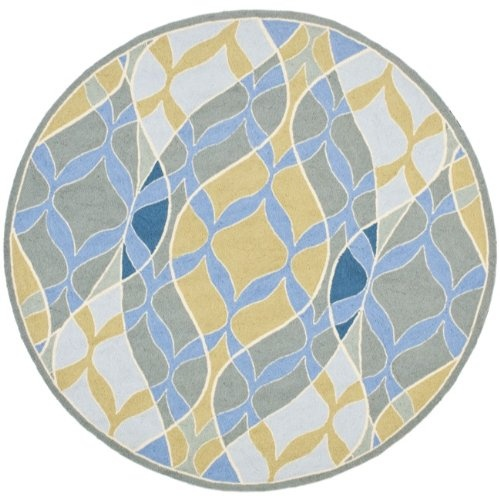 Safavieh Chelsea Collection HK180A Hand Hooked Multicolor Wool Round Area  Rug, 5 Feet