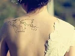 13 best map tattoo images on pinterest little tattoos map tattoos travel tattoos ideas bing images world map gumiabroncs Gallery