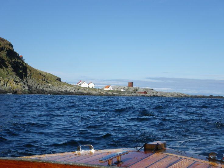 Kvalnes lighthouse. Runde bird and treasure island # Norway