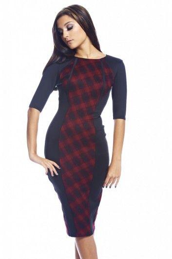 Gorgeous Tartan Panel Bodycon Dress- £30.00 <3 http://www.axparis.com/products/Tartan-Panel-Bodycon-Dress.html