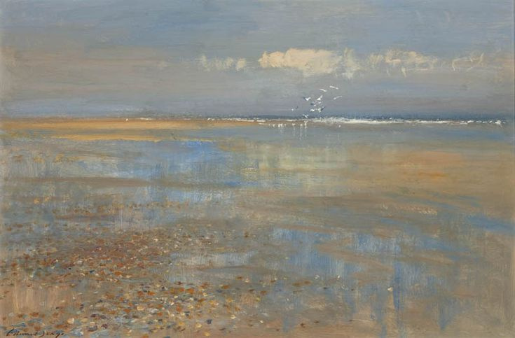 Edward Seago (31) Sand Pools at Waxham, Norfolk (Water reflections)