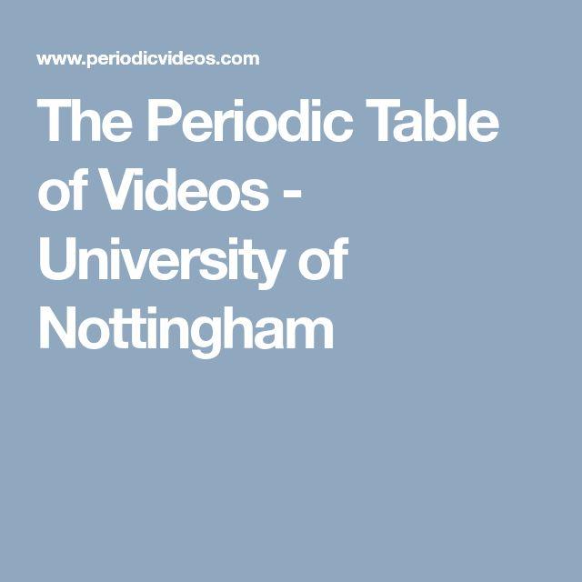 Best 25 periodic table of chemistry ideas on pinterest periodic the periodic table of videos university of nottingham urtaz Images