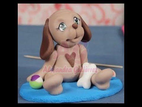 Perrito bebe en porcelana fria....por:  Alejandra Gutierrez...