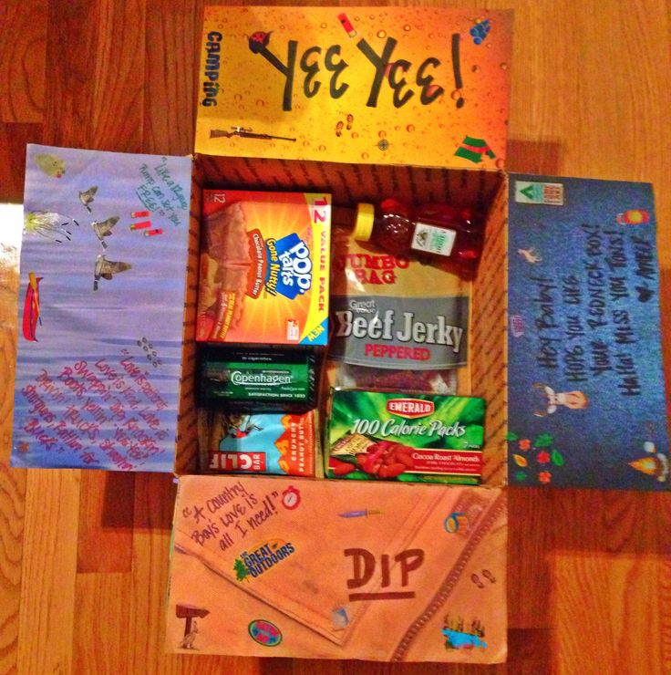 """Earl Dibbles Jr.  """"country boys love"""" care package I made for my Airman!"""