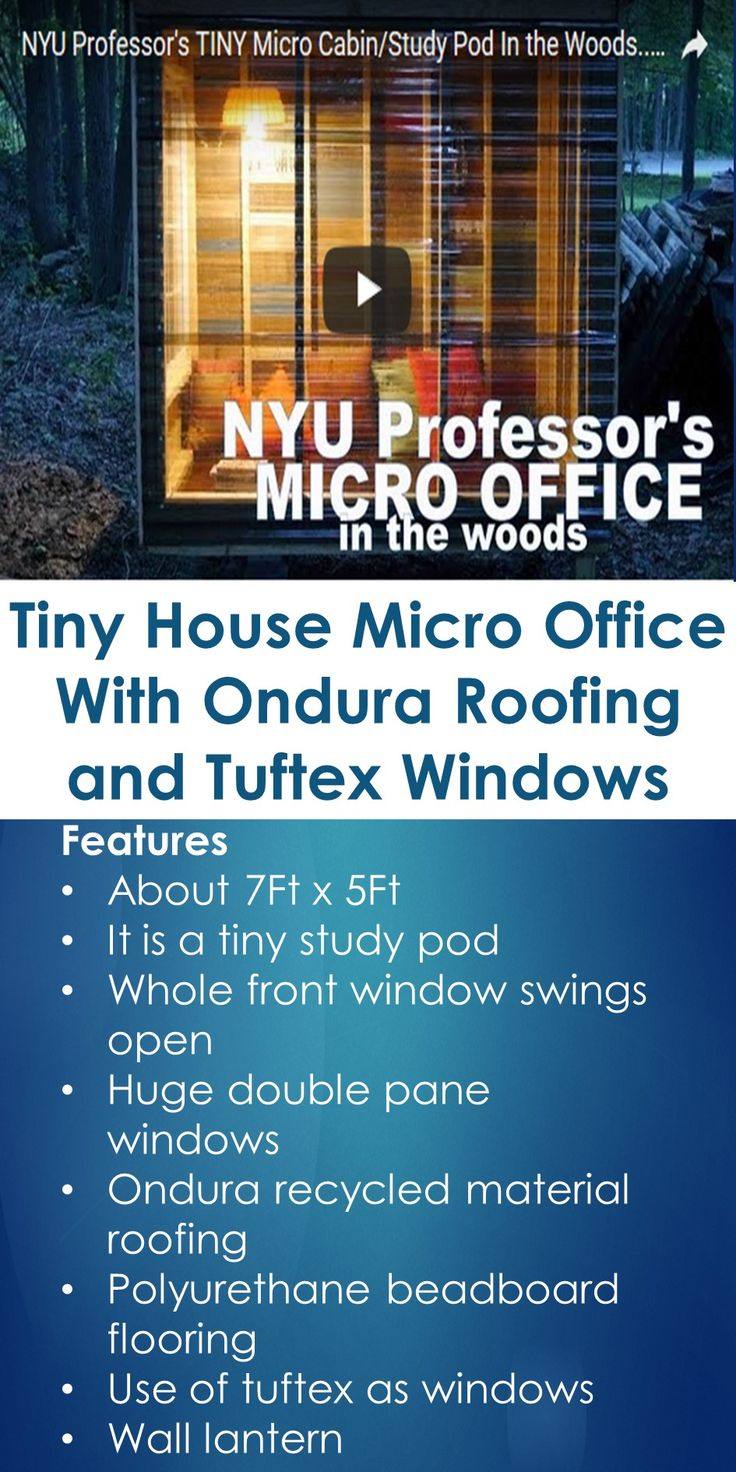 Tiny House Micro Office With Ondura Roofing and Tuftex Windows   In This Guide, You Will Learn The Following; Ondura Roofing Problems, Ondura Roofing Reviews 2015, Can You Walk On Ondura Roofing, Ondura Roofing Installation, Ondura Roofing Warranty, Ondura Roofing Home Depot, Ondura Roofing Reviews 2016, Ondura Tiles, Etc.