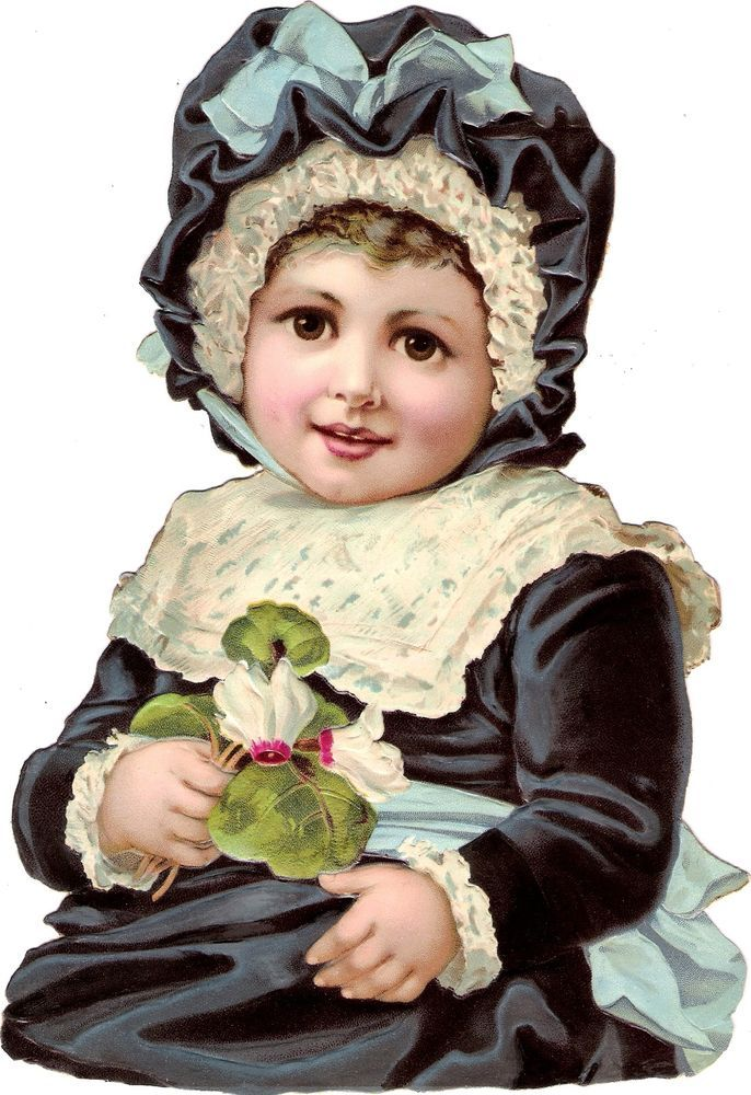 Oblaten Glanzbild scrap die cut chromo Kind child  XL 24cm enfant Baby Bebe