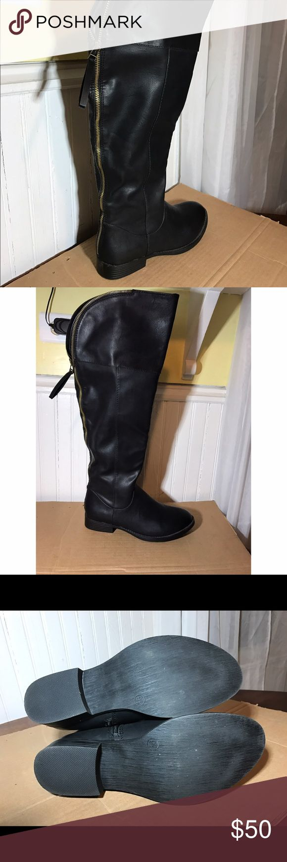 Over the knee boots Mossimo women's over the knee black boots, never worn Mossimo Supply Co. Shoes Over the Knee Boots