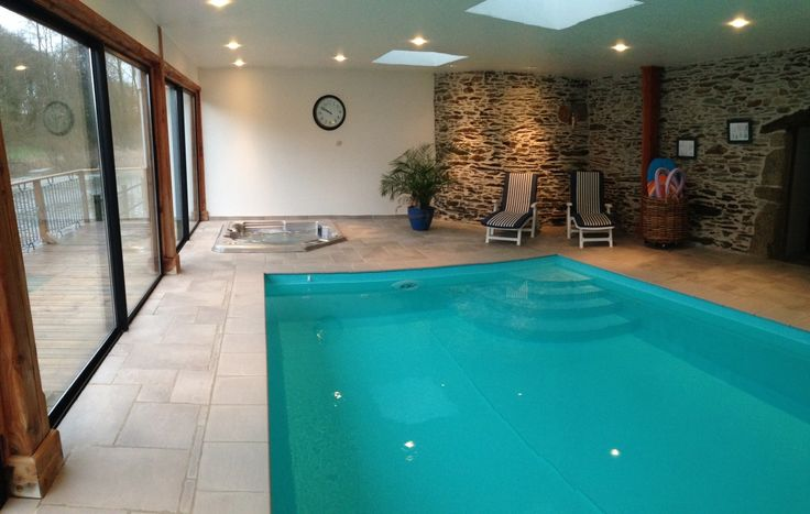 in bed with character indoor swimming pool spa fishing pond