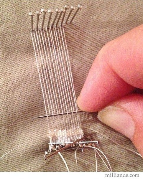 How to: Pin weaving for miniature rugs and such.                                                                                                                                                     More