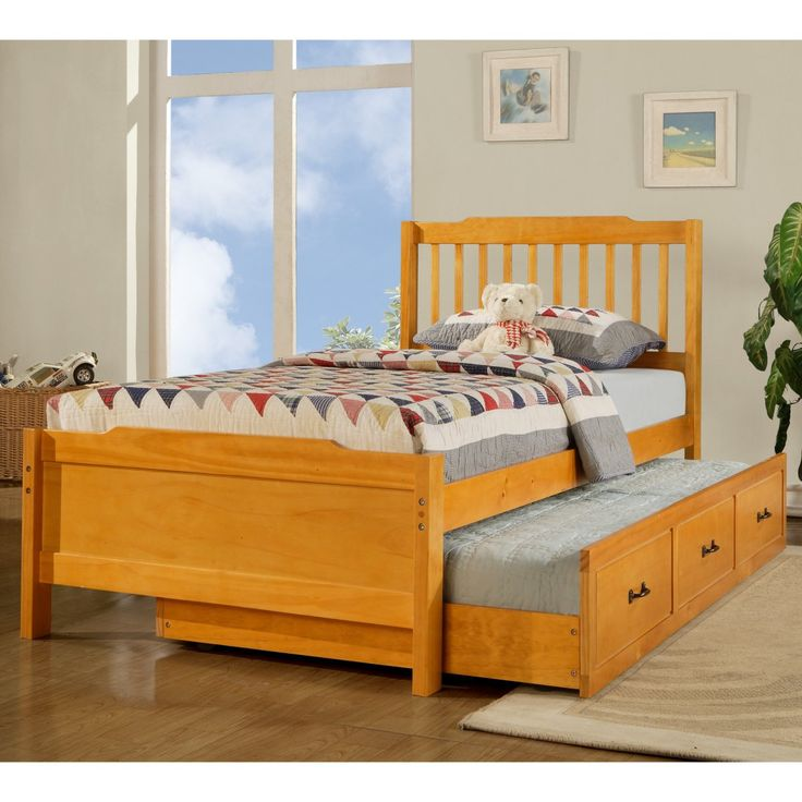Albion Trundle Bed Honey Pine 499