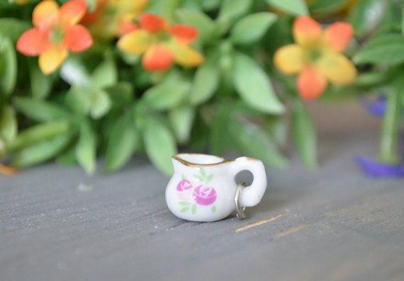 Polymer Clay Teacup Charm, Teacup Charm, Teacup, Tea Party