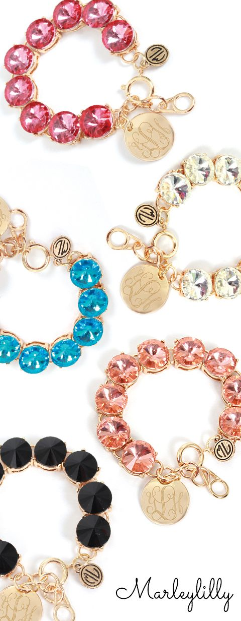 Marleylilly.com - Monogrammed Glass Bead Bracelet $34.99 ON SALE FOR $19.99 until 4/15/15. #ootd #fashion #love #SALE