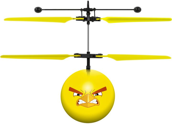 World Tech Toys Rovio Angry Birds Movie Chuck IR UFO Ball Helicopter