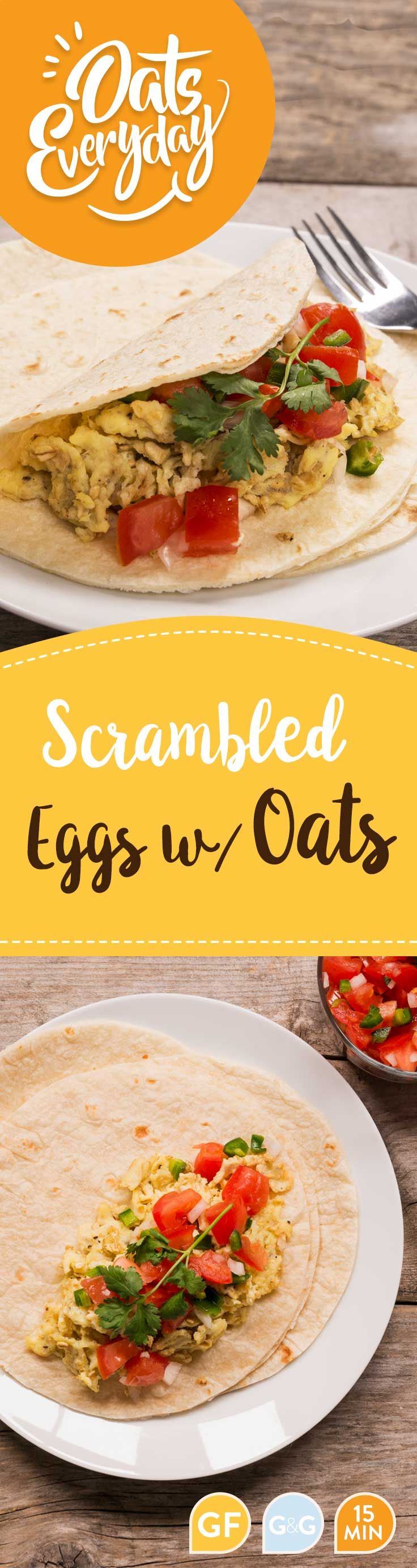Add oats to scrambled eggs for an easy and satisfying breakfast.