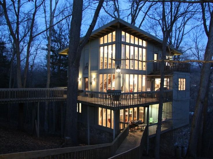 Asheville House Rental: Tree Tops - Stunning ' Treehouse' With Upscale Amenities In A Memorable Setting | HomeAway