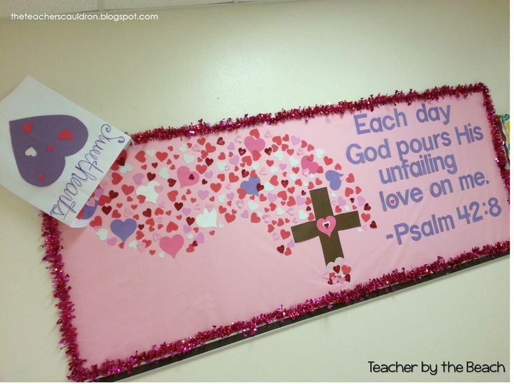 Valentine's Day Bulletin Board for Church or Private School, adorable!