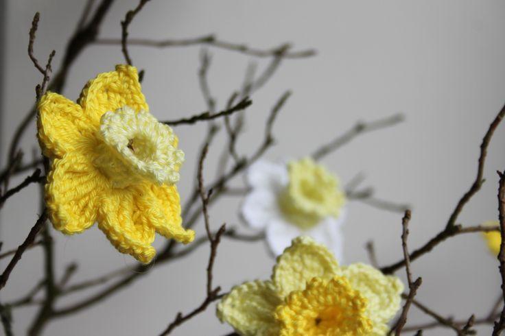Narcis haken - haakpatroon in Inhaken op de lente