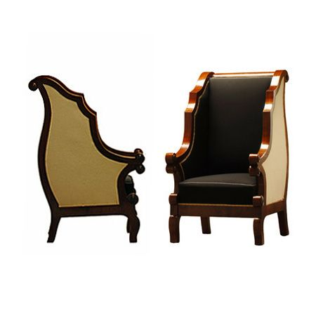 Biedermeier Wing Chairs, Hungary, c. 1840. J. Tribble Collection.