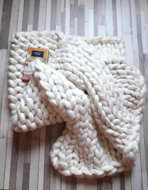 Hey, I found this really awesome Etsy listing at https://www.etsy.com/listing/538752471/chunky-knit-blanket-merino-wool-bulky