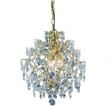 Żyrandol Rosendal - złoty kryształy - LampyTanie - 1031,36 PLN