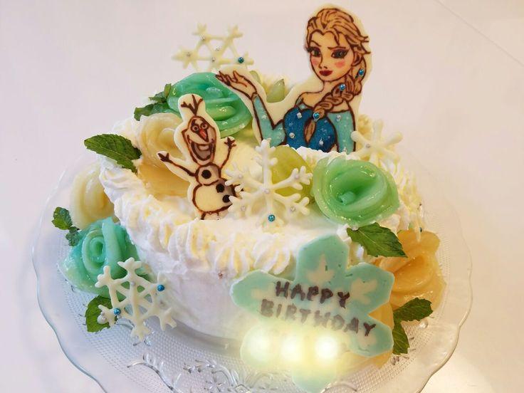 めだぬき's dish photo バースデーケーキ | http://snapdish.co #SnapDish #お誕生日 #ケーキ