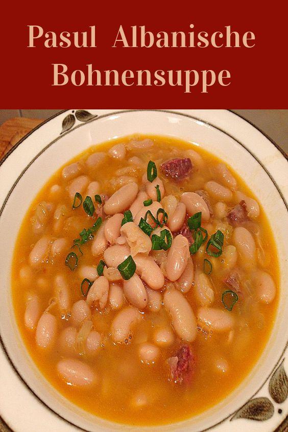 Albanische Bohnensuppe