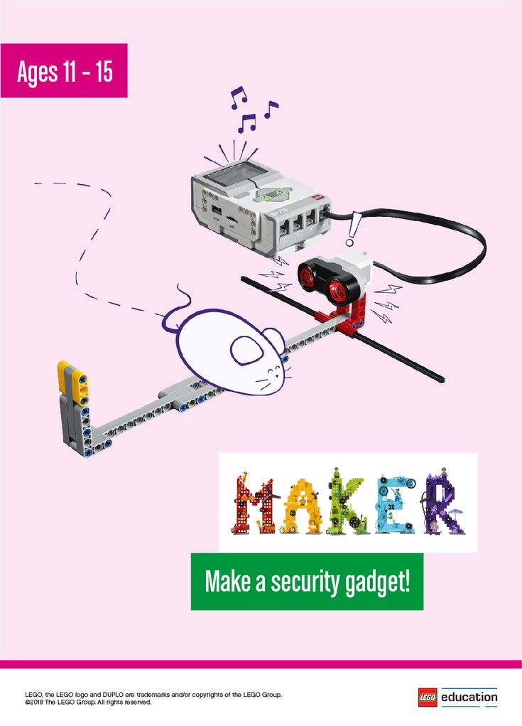 Have your students invent a security gadget to protect their belongings by warning you if anything is approaching! Students should work independently to start, then share ideas in groups and work together to decide the best idea to make. They can tinker with LEGO® bricks or sketch out ideas on their worksheets. Once the security gadgets are complete, set out a table large enough to display all models and have students share what they made.