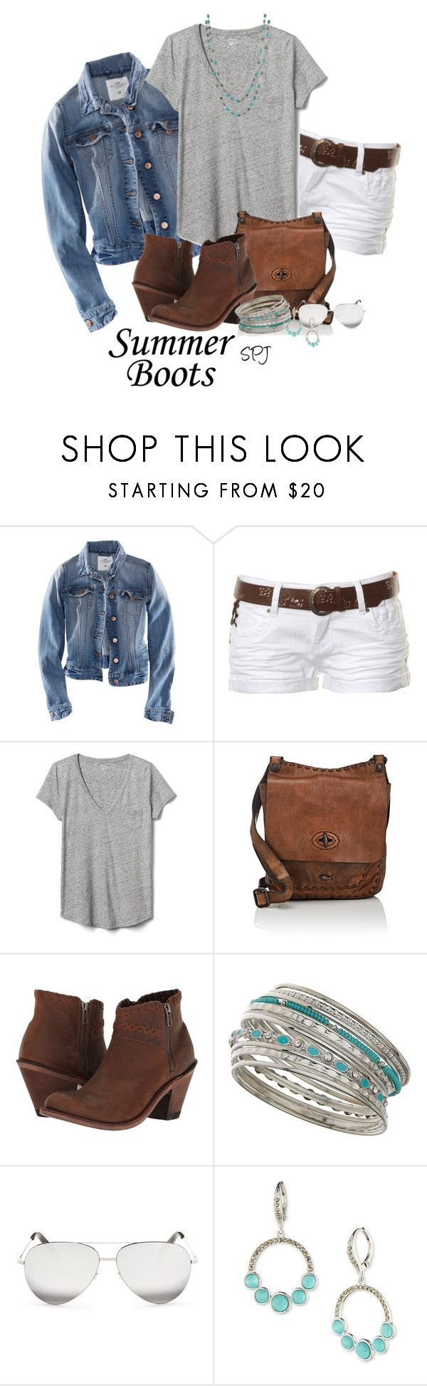 """Casual Summer Boots"" by s-p-j ❤ liked on Polyvore featuring H&M, Stolen, Gap, Campomaggi, Old West, Miss Selfridge, Victoria Beckham, Judith Jack and John Hardy"